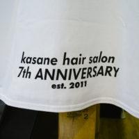 神楽坂の美容室kasaneの7周年記念Tシャツを自作