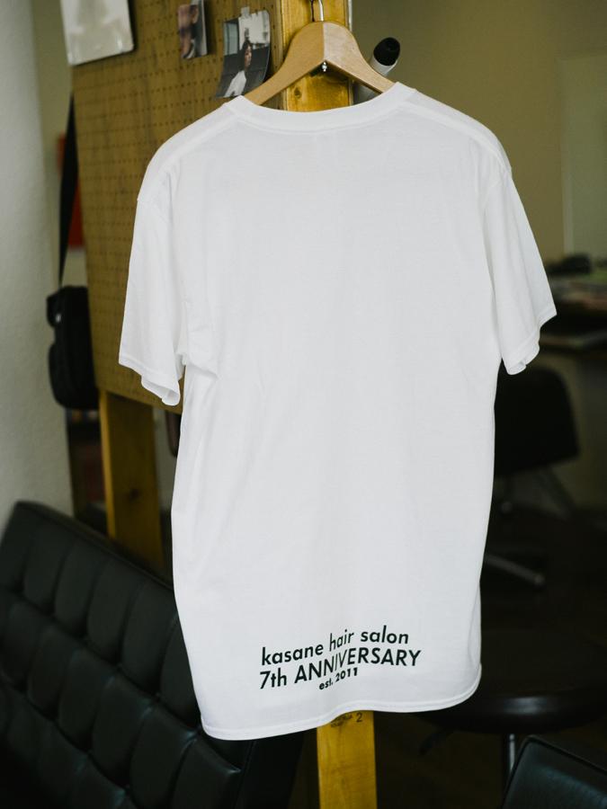 神楽坂の美容室kasane7周年記念Tシャツ